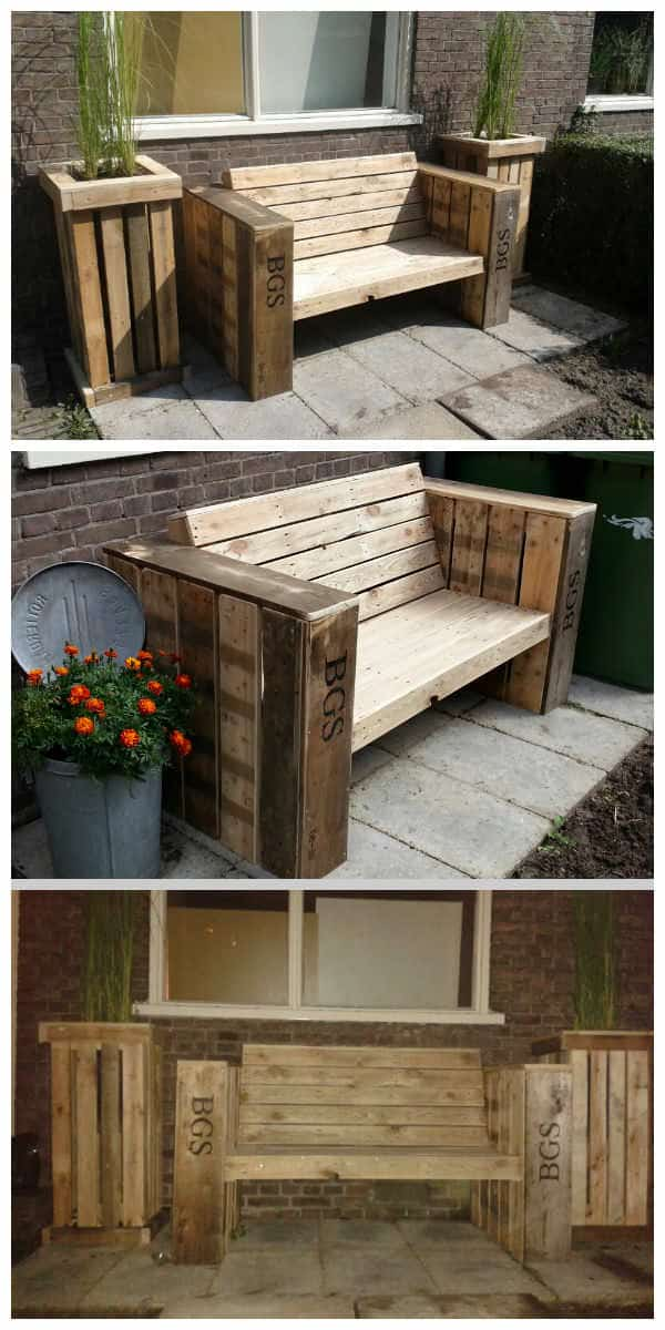 Lounge Bench Amp Two Large Planter Boxes Made Of Recycled