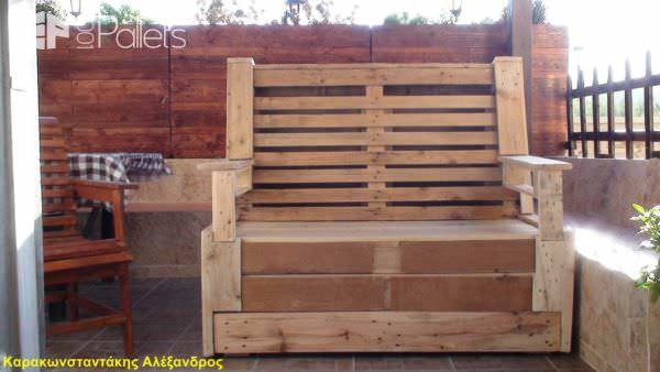 My 3 Pallets Bench Pallet Benches, Pallet Chairs & Stools