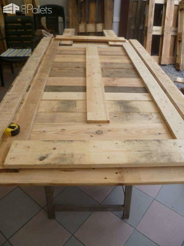 My new dining room pallet table ma nouvelle table de for Table a manger en palette