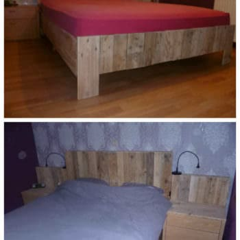My New Pallets Bed