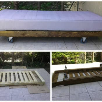 Outdoor Mobile Pallet Bed