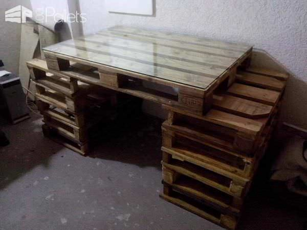 Pallet Work Table Pallet Desks & Pallet Tables