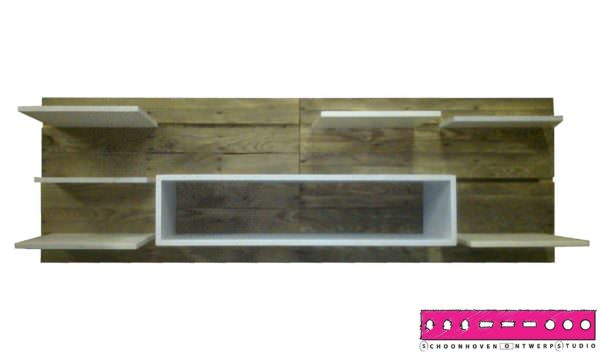Self The Pallet Shelf Pallet Shelves & Pallet Coat Hangers