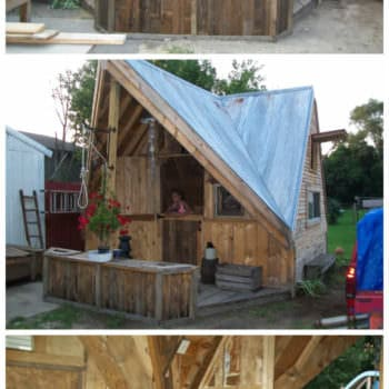 Skid Shack From Reclaimed Wood (Skid & Crates)