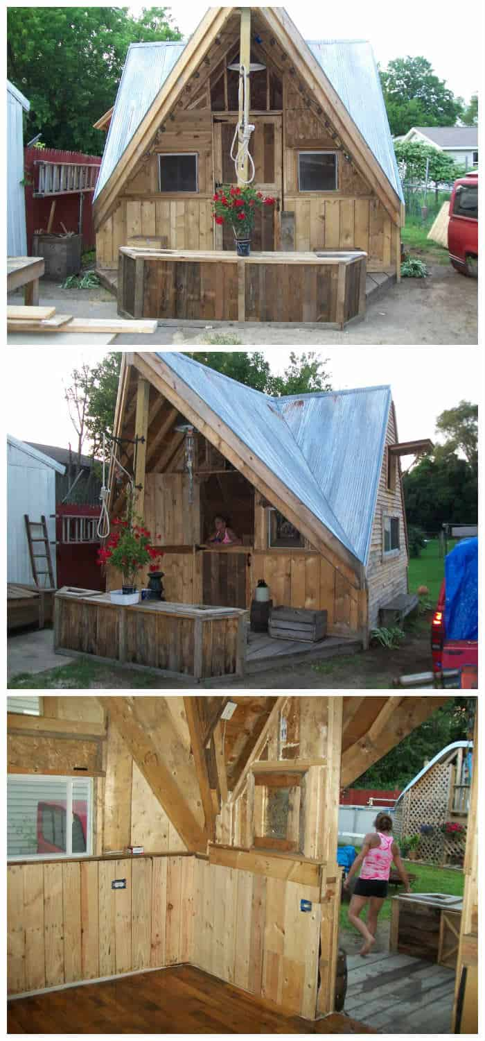 Skid Shack From Reclaimed Wood Skid Amp Crates 1001 Pallets