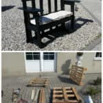 Stenildhuset Bench Made Out Of Three Recycled Pallets