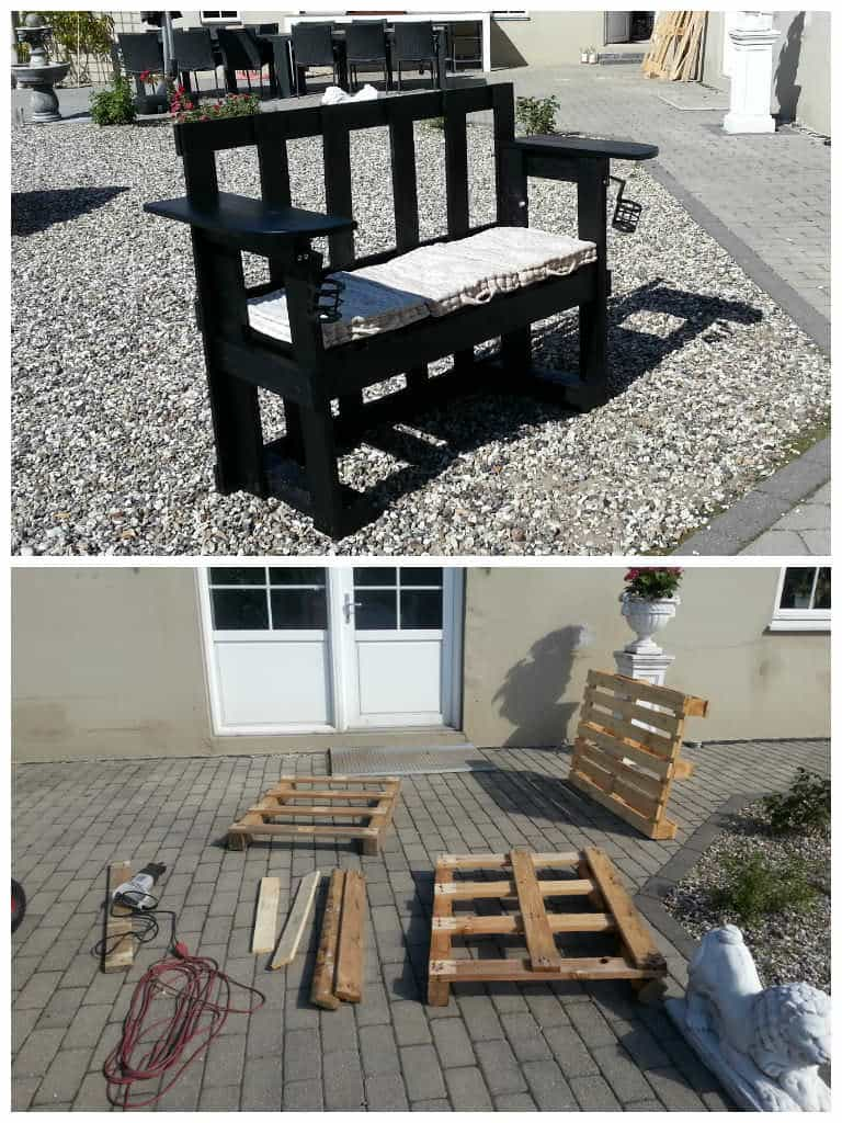 Stenildhuset Bench Made Out Of Three Recycled Pallets 1001 Pallets
