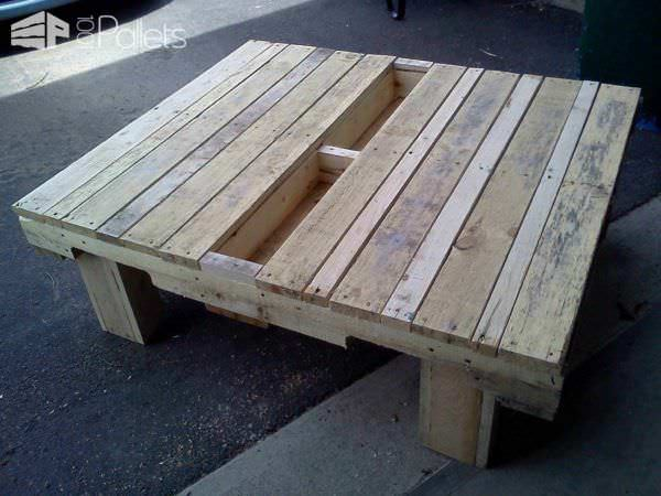 table basse de jardin garden coffee table 1001 pallets. Black Bedroom Furniture Sets. Home Design Ideas
