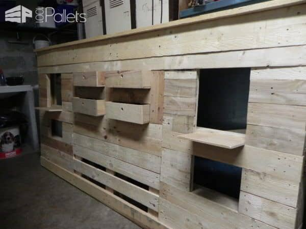 t te de lit en palette pallets bed headboard pallet. Black Bedroom Furniture Sets. Home Design Ideas