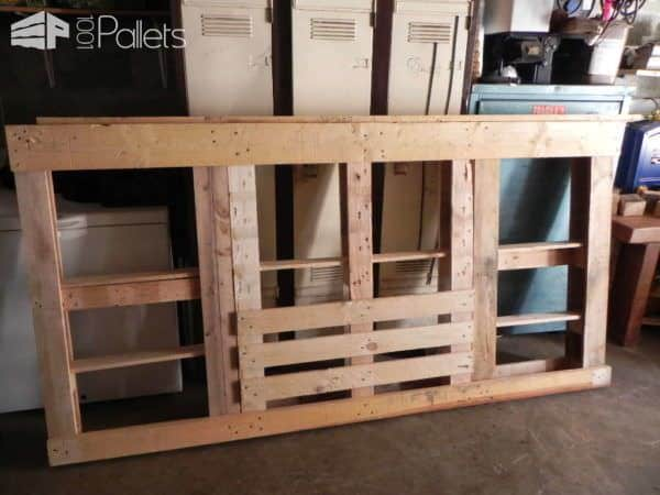Tête De Lit En Palette / Pallets Bed Headboard DIY Pallet Bedroom - Pallet Bed Frames & Pallet Headboards