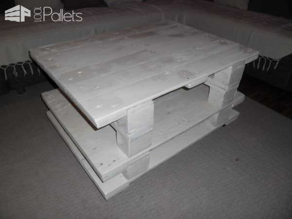 White Small Living Room Table Pallet Coffee Tables