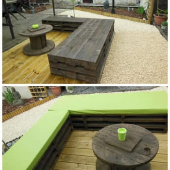 Zen Garden With Repurposed Pallets