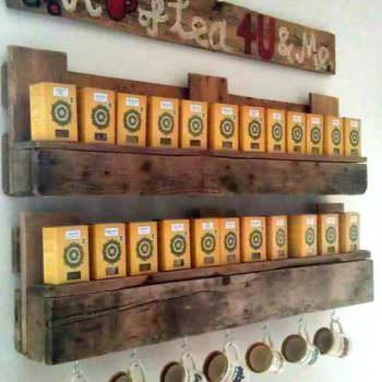 Pallet Tea Shelves