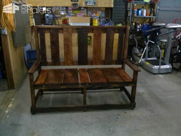 Furnitures Made From Wooden Pallets Pallet Benches, Pallet Chairs & Stools