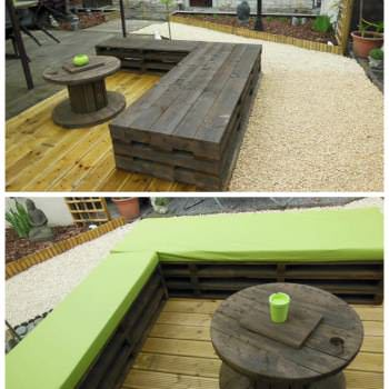 Zen garden with pallets !