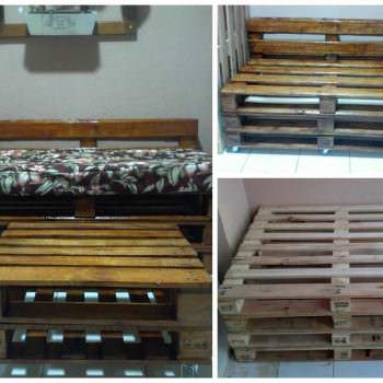Pallets Bench In Apartment