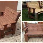 Two seater garden bench from pallets