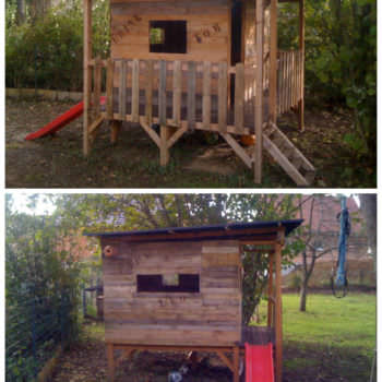 Kids Playhouse Made Out Of Pallets