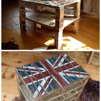 Union Jack Pallets Snack Table