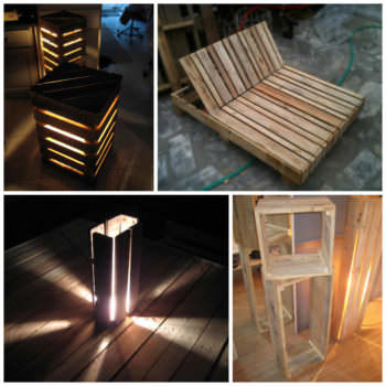 Mobilier Palette Design / Design Pallet Furniture & Lamp
