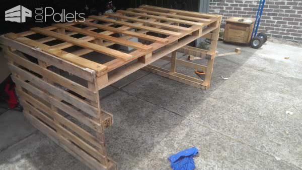 Cheap & Easy Pallet Table Lounges & Garden Sets Pallet Desks & Pallet Tables
