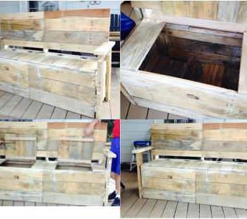From 5 Pallets To 1 Great Bench With Storage