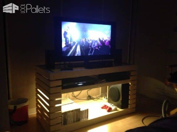 Meuble TV / TV Stand Pallet TV Stand & Rack