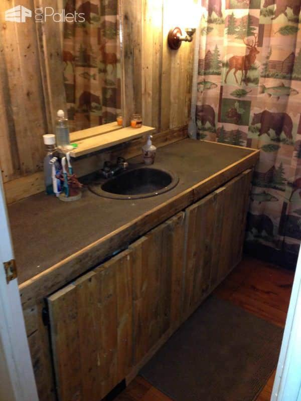 Pallets Bathroom Pallet Walls & Pallet Doors