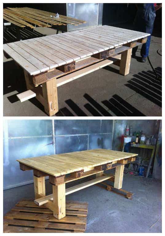 Amazing Pallet Table 1001 Pallets