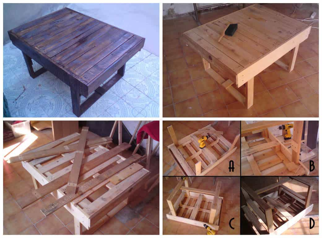 Coffee table made from discarded pallets 1001 pallets geotapseo Images