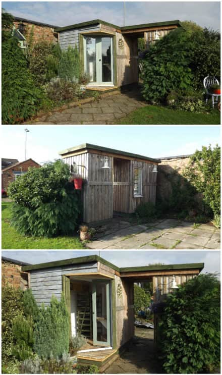 Garden Room Made Out Of 50 Repurposed Pallets