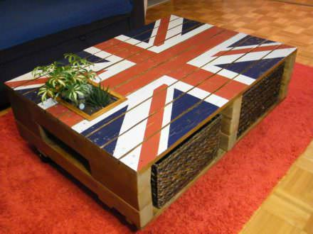 God Save The Queen Pallet Coffee Table