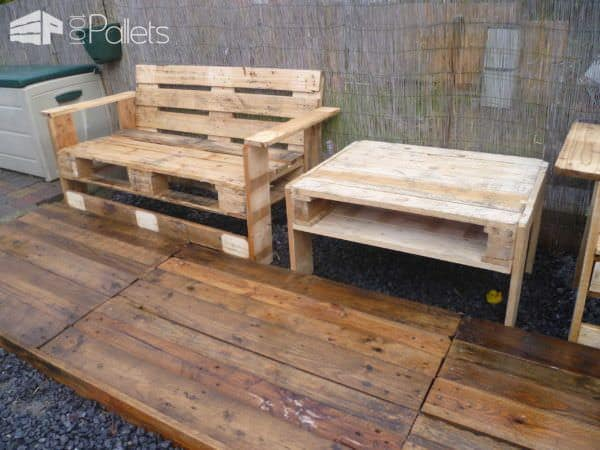 Mon Nouveau Set De Jardin / Pallets Garden Set Lounges & Garden Sets