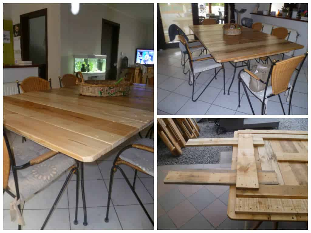 my new dining room pallet table ma nouvelle table de