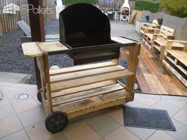 My New Pallet Bbq / Mon Nouveau Barbecue Lounges & Garden Sets
