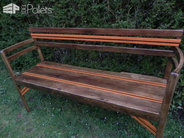 Outdoor Pallets + Chairs Bench / Deux Chaises + Palettes = Banc Pallet Benches, Pallet Chairs & Stools Pallets in the Garden