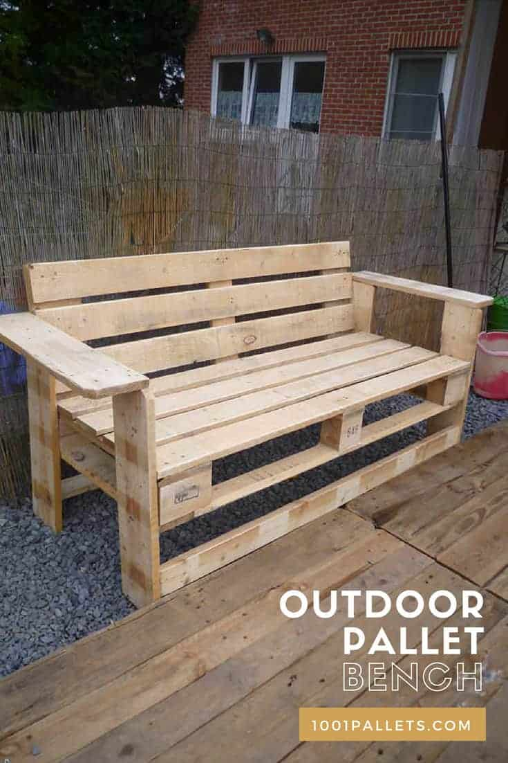 Outdoor Pallet Bench 1001 Pallets