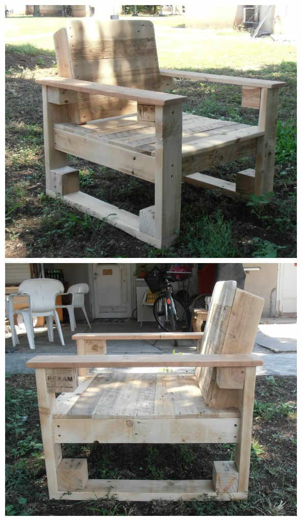 Pallet Chair For Outdoor Use 1001 Pallets