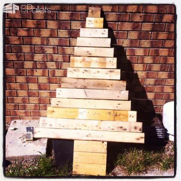 Pallet Christmas Tree Pallet Home Décor Ideas