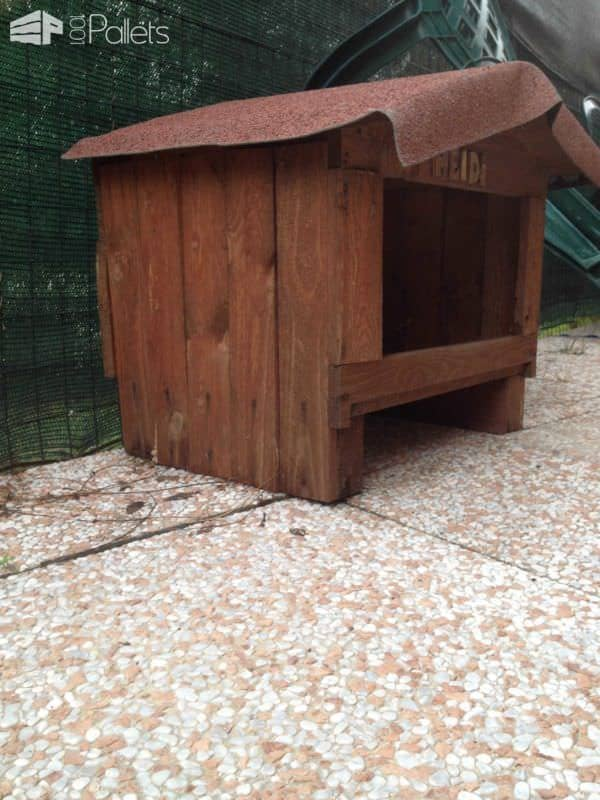 Pallet Dog House Pallets in the Garden
