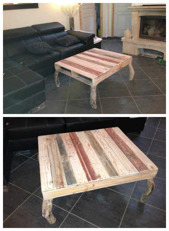 Pallets coffee table table basse 1001 pallets for Transformer palette table basse