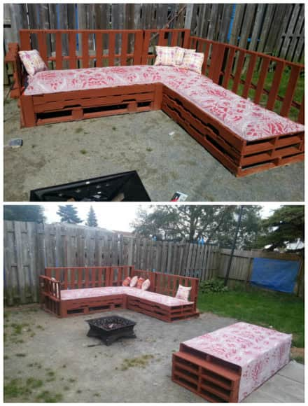 Pallets Sofa Around The Fire Pit