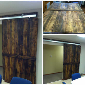 Pallets Conference Room Door