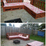 Around the fire pit: pallets sofa