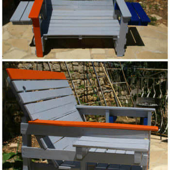 2 Persons Pallet Chair