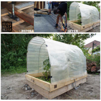 Upcycling Green House With Wooden Pallets By Kesselholz Design