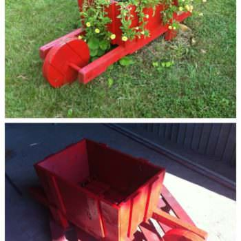 Pallet Wheelbarrow For Decoration