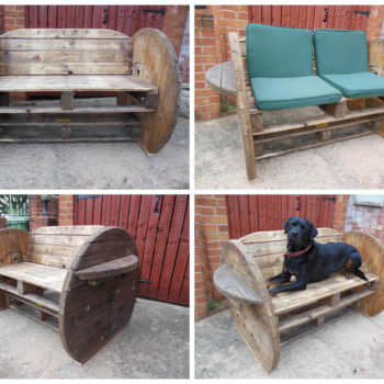 Pallet & Cable Drum Bench