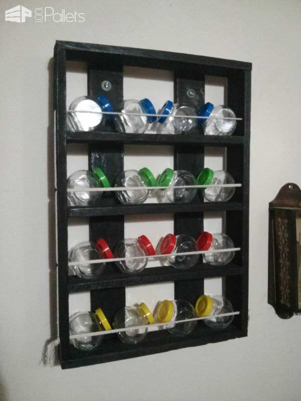 Pallet Spices Shelf Pallet Shelves & Pallet Coat Hangers