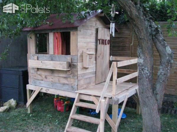 Cabane Pour Enfants / Kids Playhouse Fun Pallet Crafts for Kids Pallet Sheds, Pallet Cabins, Pallet Huts & Pallet Playhouses